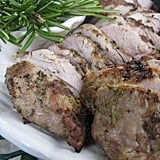 Grilled Pork Tenderloin With Rosemary Coating and Red Pepper Sauce