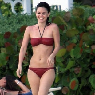 Rachel Bilson Wears a Red Bikini in Barbados