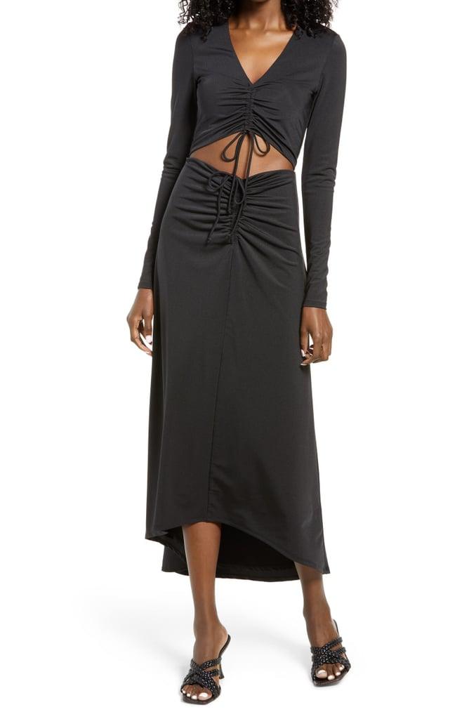 For an Unexpected Twist: AFRM Rhys Cutout Long Sleeve Midi Dress