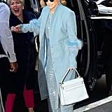 Jennifer Lopez's Blue Sparkly Jumpsuit 2018