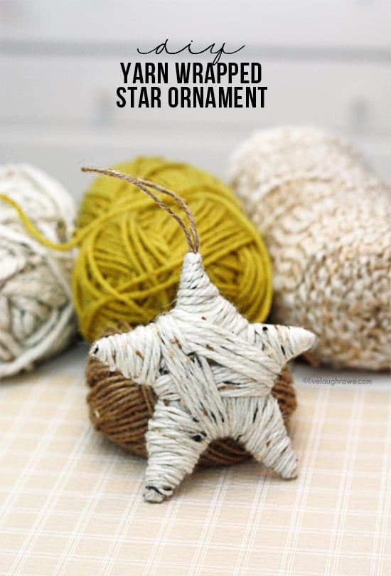 Cardboard Yarn Ornaments | DIY Christmas Ornaments ...