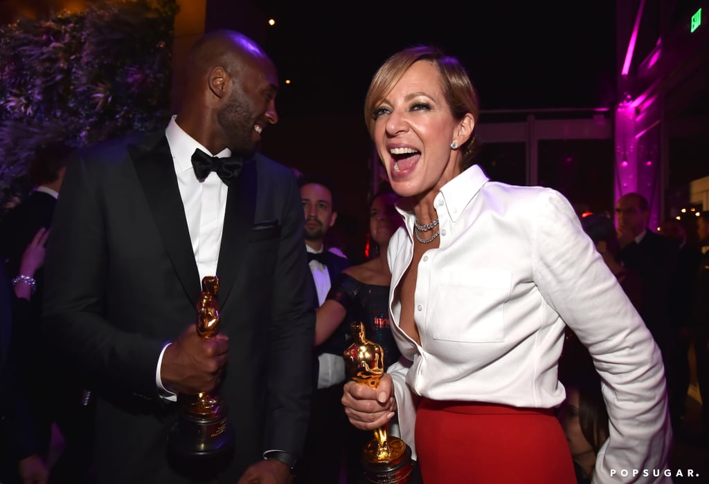 Pictured: Kobe Bryant and Allison Janney