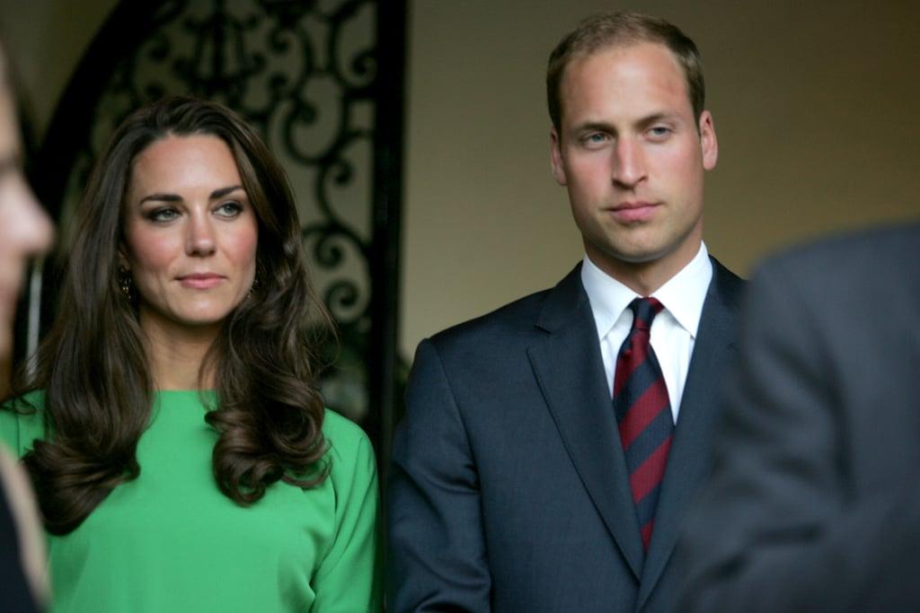 Prince William and Kate Middleton in Hancock Park in LA.
