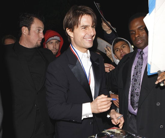 Slide Photo of Tom Cruise Signing Autographs in LA