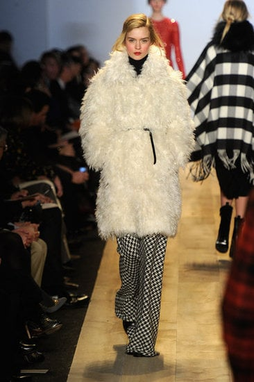 Another fuzzy wuzzy take from Michael Kors.