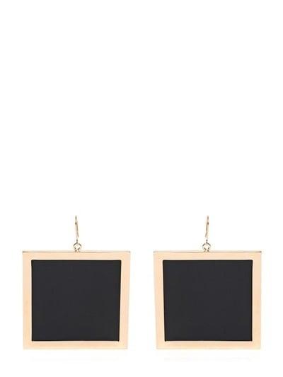 Balmain Perspex Square Earrings ($446)