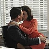 Don Draper and Megan Calvet