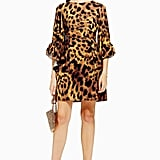 Topshop Rio Leopard Print Flare Sleeve Dress by Lace & Beads