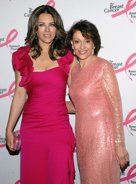 Actress Elizabeth Hurley and Philanthropist Evelyn Lauder
