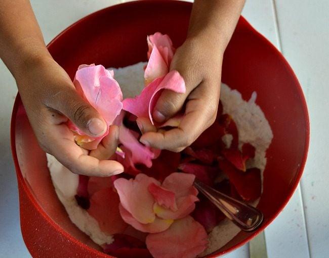 Rose Petal Play Dough