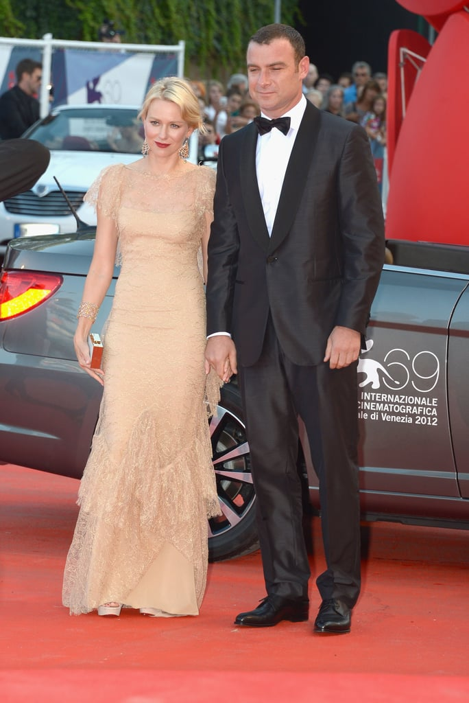 Naomi Watts and Liev Schreiber dressed up for the premiere of The Reluctant Fundamentalist.