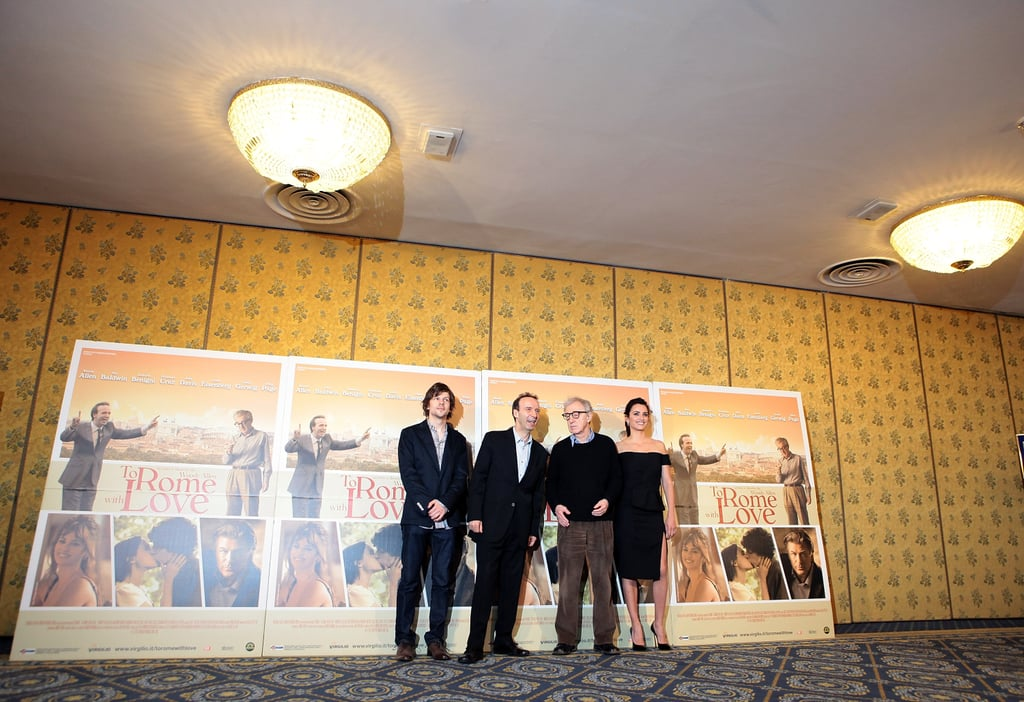 Penelope Cruz, Jesse Eisenberg, Wood Allen andRoberto Begnini took some time to greet the press in Rome.