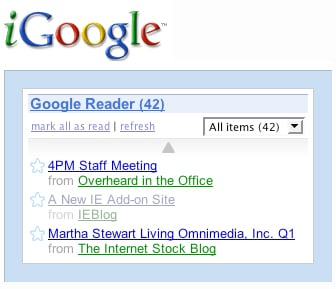 Geek Tip: Add Google Reader to Your iGoogle Page
