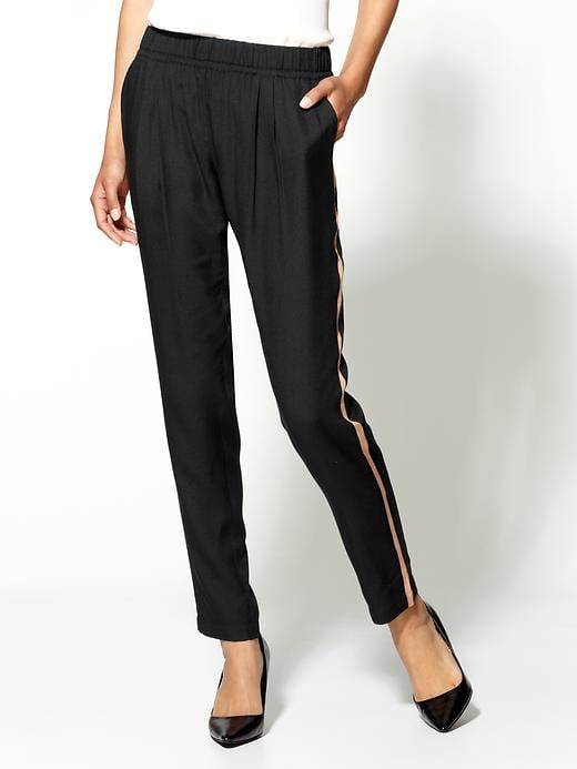 The tuxedo-stripe silhouette gets a silky upgrade, and we're all over it. Joie Katrice Tuxedo Stripe Pant ($268)