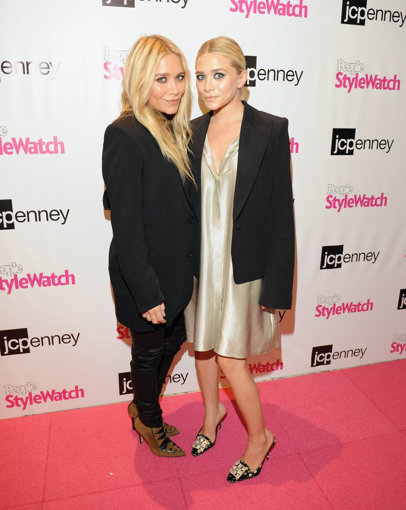 Mary-Kate and Ashley Olsen looked chic in black blazers as they walked the pink carpet at JCPenney in NYC early this evening. The mass retailer's Fashion's Night Out event, cohosted by People StyleWatch, is one of dozens happening in the Big Apple and across the United States tonight as Fashion Week kicks into full gear. The designers took a brief break to swing by the party, as they prep for their line The Row to show tomorrow. The sisters' high-end collection is just one of several stylish endeavors they're pursuing. In addition to recently launching Stylemint and a collaboration with TOMS, their contemporary collections Elizabeth + James and TEXTILE: Elizabeth + James continue to be successful. Ashley and Mary-Kate aren't the only celebrities-turned-designers who will be presenting their latest creations during Fashion Week — Victoria Beckham is also on the East Coast with baby Harper, as she gets ready to unveil her latest self-titled collection. Be sure to stay tuned to PopSugar, FabSugar and Fashionologie for the latest dispatches on all the runway shows, street style, and parties!
