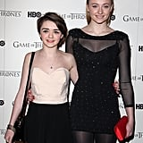 Maisie and Sophie were all smiles at a Game of Thrones DVD premiere in London back in February 2012.