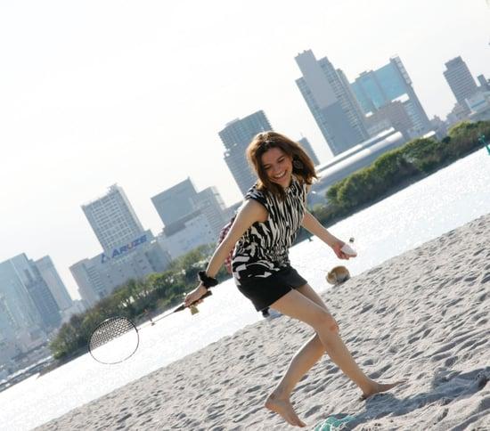 Badminton in Odaiba