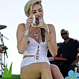"On Sept 16, Miley Cyrus and Liam Hemsworth announced that they had gone their separate ways, and a week later the singer broke down in tears while singing her breakup anthem ""Wrecking Ball"" at the iHeartRadio music festival in Las Vegas on Sept 21."