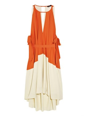 Marc by Marc Jacobs Color-Block Crepe de Chine Dress ($600)