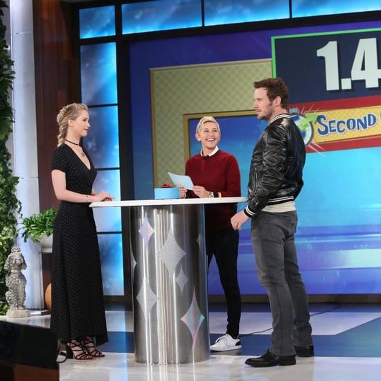 Jennifer Lawrence Chris Pratt 5 Second Rule Game on Ellen