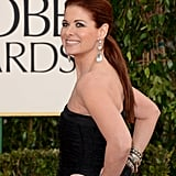 Debra Messing smiled at the 70th Annual Golden Globe Awards.