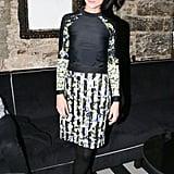 Leigh Lezark at Made's New York Fashion Week party.