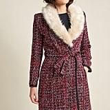 Fever London Tweed Statement Coat