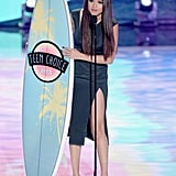 "Selena Gomez accepted the award for choice breakup song for ""Come & Get It"" at the Teen Choice Awards."