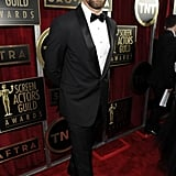 Hugh Jackman suited up in a tux.
