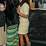 Priyanka Chopra Yellow Chanel Suit and PVC Boots
