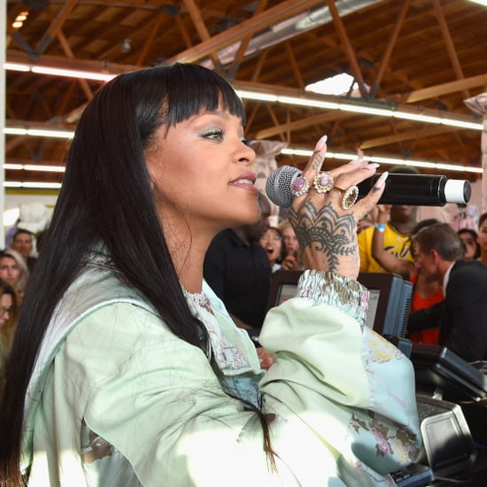 Rihanna Wears Fenty Beauty Highlighter | April 2017