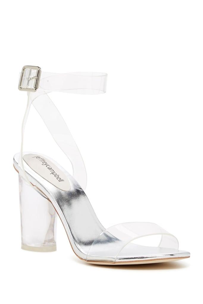 99f3d6b2989 Jeffrey Campbell Block Heel Sandal | Bella Hadid Wearing Clear Heels ...