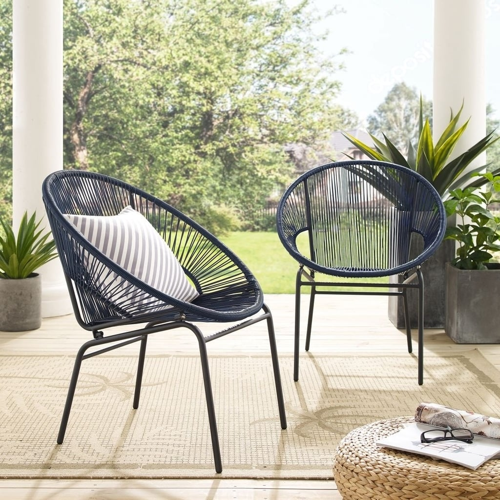 Corvus Sarcelles Woven Wicker Patio Chair Set