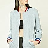 Forever 21 Longline Varsity Jacket