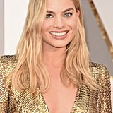 Margot Robbie Wearing Gold Tom Ford Dress Oscars 2016