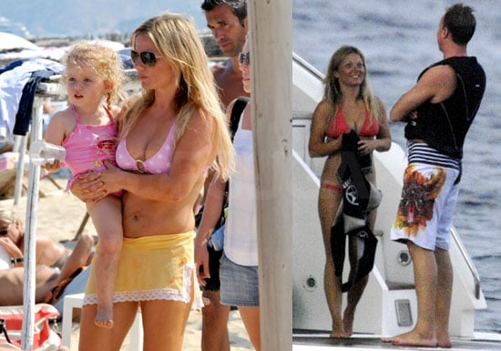 Bikini Photos of Geri Halliwell With Bluebell and Henry Beckwith in St. Tropez