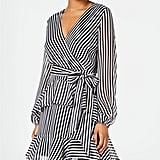 Material Girl Striped Ruffle Dress