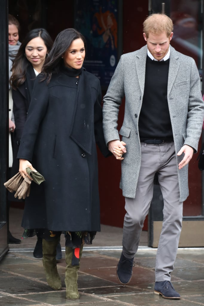Meghan Markle Oscar de la Renta Animal Dress