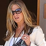 Jennifer Aniston stepped out in Santa Fe with her engagement ring.