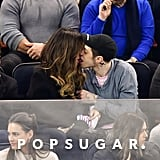 Pete Davidson and Kate Beckinsale Kissing at Hockey Game