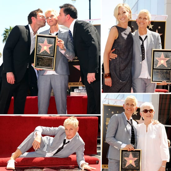 Ellen DeGeneres Gets Showered With Kisses at Her Walk of Fame Ceremony