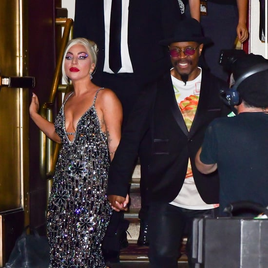Lady Gaga Wearing a Shimmering Georges Hobeika Gown