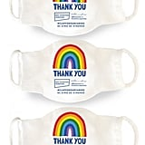 """Little Mistress x Kindred Rainbow """"Thank You NHS"""" Face Mask"""