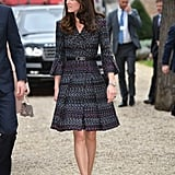 On Saturday, Kate paid homage to Parisian fashion in a Chanel skirt suit as she toured Les Invalides.