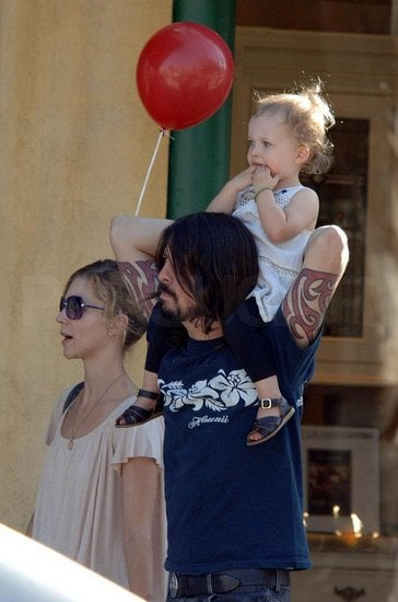 Dave Grohl strolled down the streets of Studio City with his wife Jordyn Blum and daughter Violet Maye.