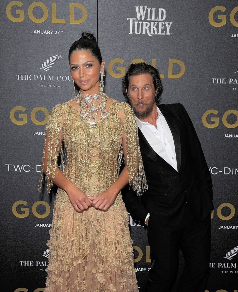 Matthew McConaughey Camila Alves at NYC Gold Premiere 2017 ...