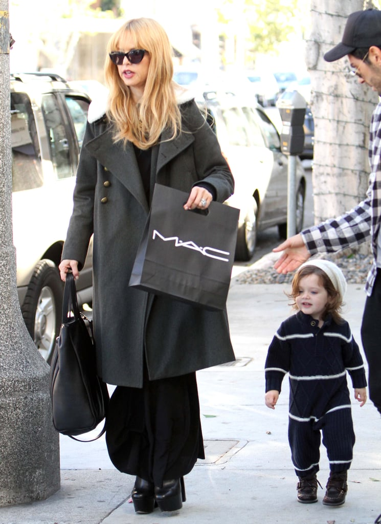 Skyler Berman tagged along with his mom, Rachel Zoe.