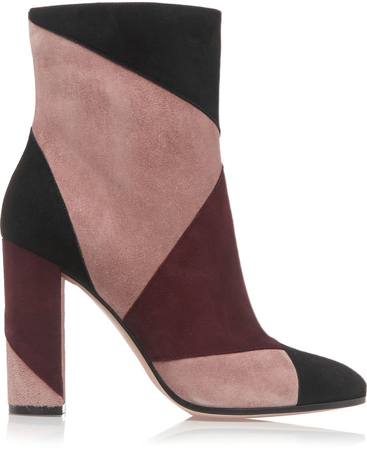 Gianvito Rossi Patchwork Suede Ankle Boots ($1,160)