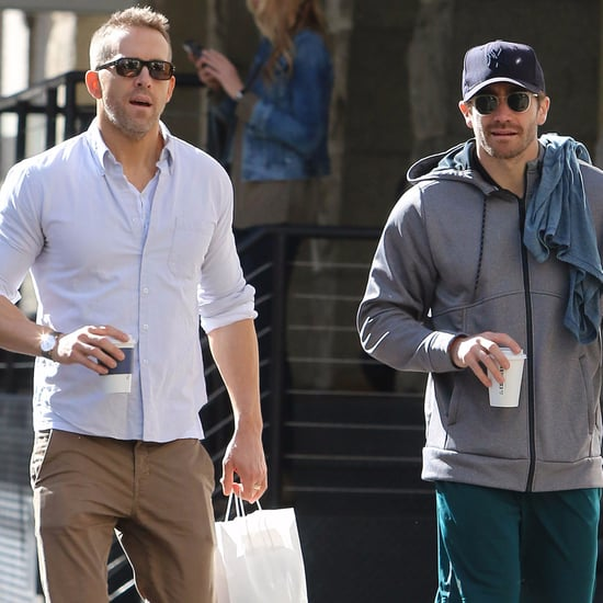 Ryan Reynolds and Jake Gyllenhaal in NYC October 2017