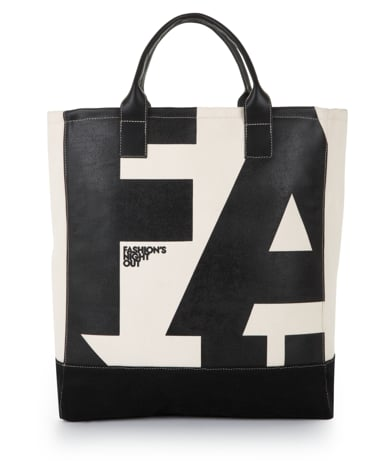 She can tote her groceries or gym clothes in this ultrachic Fashion's Night Out tote from BCBG Max Azria ($50).